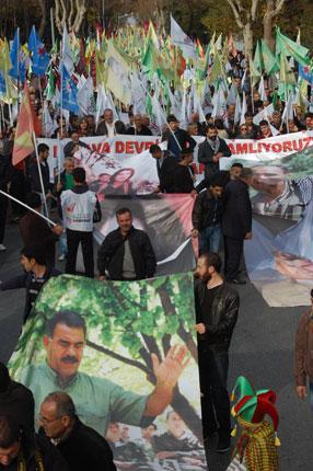 Rojava'ya selam mitingi