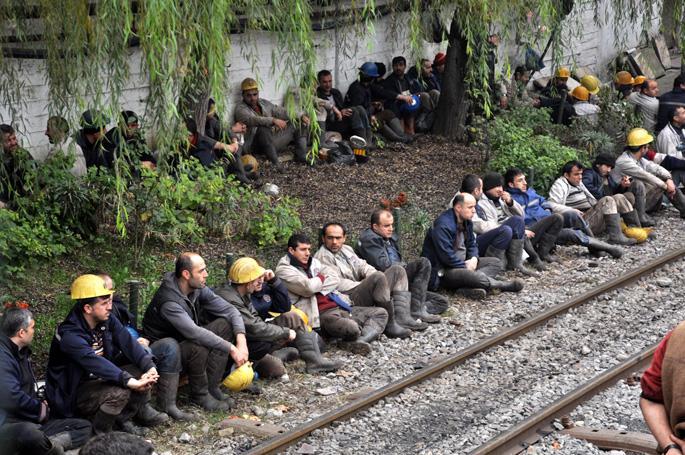 Zonguldak'ta madenci eylemi