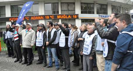 THY işçilerinden Habertürk yazarına protesto