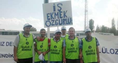 Direnişçilere fabrikadaki işçilerden tam destek