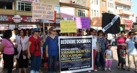 Çaycuma'da kürtaj yasasına karşı eylem