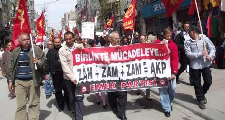EMEP: Zamlara karşı birlikte mücadele