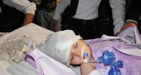 Gaz bombasıyla yaralanan bebek yoğun bakımda