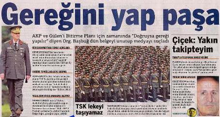 Taraf gazetesi geri adım attı