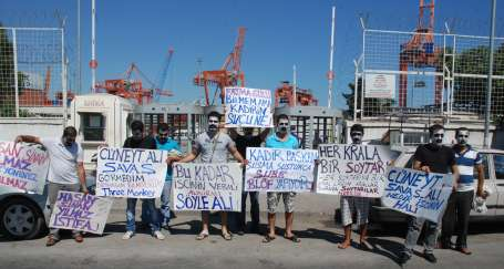 Liman işçilerinden sendikaya tepki