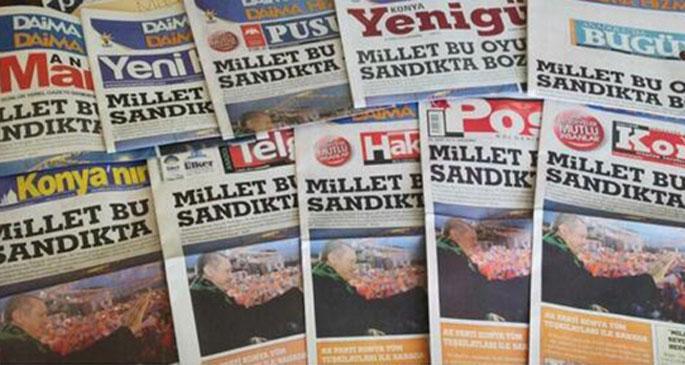 10 gazete de birden aynı manşet