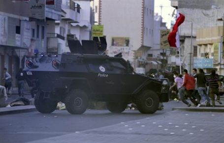 Bahreyn sokaklarında polis işgali