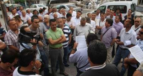 İşçilerden Harb-İş Genel Merkezi önünde protesto