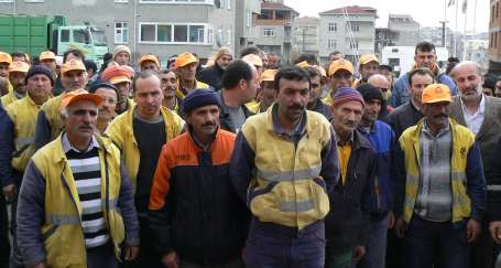Gebze'de temizlik işçilerinin sabrı taştı