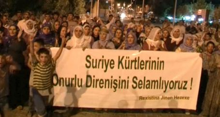 Suriye Kürtlerine destek sürüyor