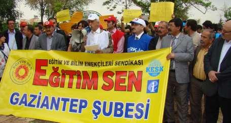 Antep'te eğitim emekçilerine yönelik şiddet kınandı