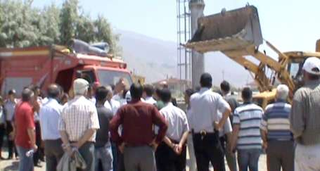 Munzur Mahallesi halkı baz istasyonuna tepkili