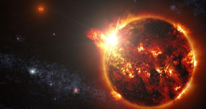 200 milyon derecelik yıldız patlaması
