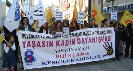 KESK'li kadınlar mücadele çağrısı yaptı