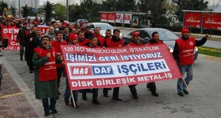 Mas-Daf işçilerine destek ziyareti