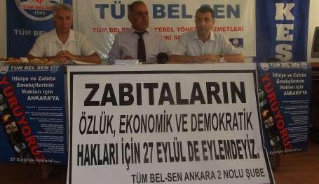 Zabıtalar ve itfaiyeciler Ankara'ya yürüyor