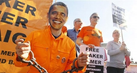 İngiltere'de Obama protestosu