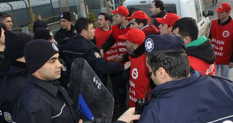 DSC işçilerine vahşi saldırı