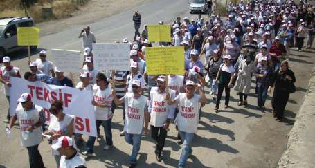 İşçilerden grev öncesi büyük yürüyüş