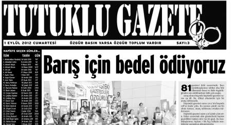 Tutuklu Gazete'nin üçüncü sayısı 1 Eylülde çıkıyor