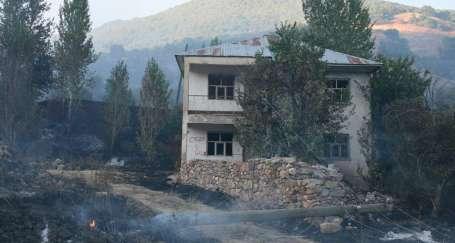 Yangında 15 hektar alan zarar gördü