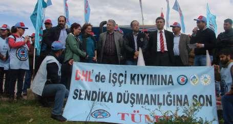 DHL işçilerine uluslararası destek
