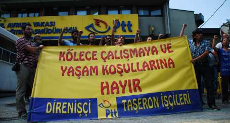 PTT taşeron işçilerinin mücadelesi sürecek