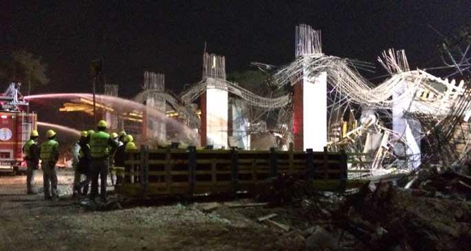 Otel inşaatında kalıp çöktü: 5 yaralı