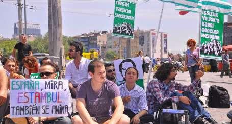 Gençlerin 3 günlük oturma eylemi sona erdi