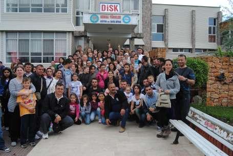 Legrand işçileri Gönen Kemal Türkler Eğitim ve Tatil Tesislerinde
