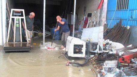 Ordu'da yağış sonrası su baskını yaşandı