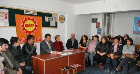 Çorum'da Emek Partisi, milletvekili adaylarını tanıttı