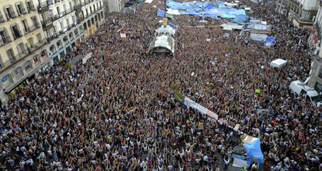 İspanya'da halk ayakta