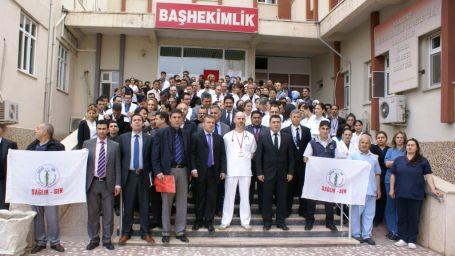 Iğdır'da doktora saldırı protesto edildi