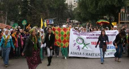 """Adanalı kadınlar haykırdı: """"Haklarımızı istiyoruz!"""""""