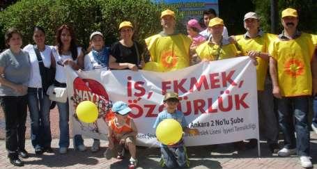 Ankara semtlerinde de 1 Mayıs kutlandı