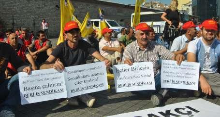 'İşçiler birleşin, yasaklara son verin'
