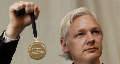 İnsanlık ödülü Assange'ın