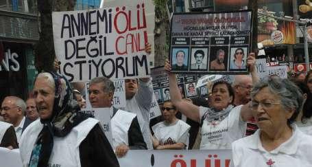 Meclis önünde F tipi protestosu