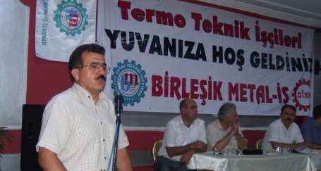 Serdaroğlu, Termo Teknik işçileri ile buluştu
