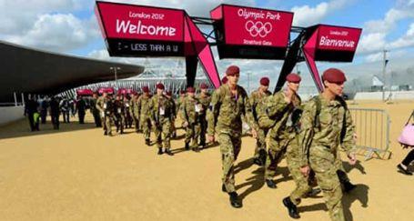 Londra'nın Olimpik 'savaş' oyunları