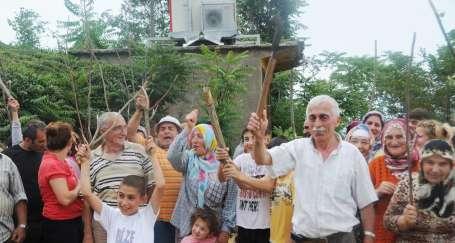Rize'de köylülerin baz tepkisi