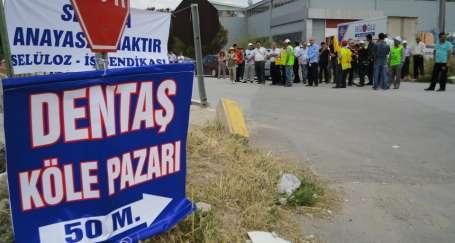 Grevin ardından işçilere destek