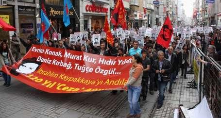 Kaypakkaya için İstiklal Caddesi'nde yürüyüş