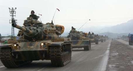 Sınır bölgelerine askeri yığınak