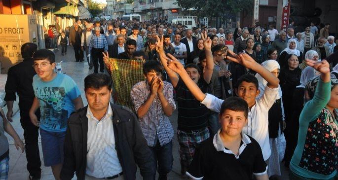 9 Ekim protestoları olaylı başladı