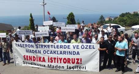 Madende taşeron işçilerin eylemi sürüyor
