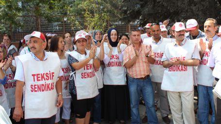 Türk-İş'ten grevdeki işçilere ziyaret