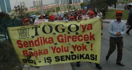 TOGO işçileriyle dayanışma büyüyor