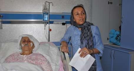 75 yaşındaki Halime Kayar 150 dikişle yoğun bakımdan çıktı